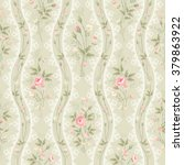 seamless floral pattern with... | Shutterstock .eps vector #379863922
