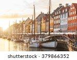 colorful houses in copenhagen... | Shutterstock . vector #379866352