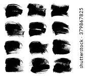 big black thick strokes set...   Shutterstock .eps vector #379867825