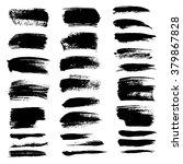 abstract black textured strokes ... | Shutterstock .eps vector #379867828