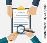 signing of a treaty business... | Shutterstock .eps vector #379870582