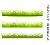 set a variety of grass on white ... | Shutterstock .eps vector #379873468