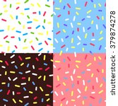 set of  colorful glaze... | Shutterstock .eps vector #379874278
