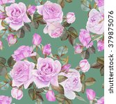 floral seamless pattern with... | Shutterstock . vector #379875076