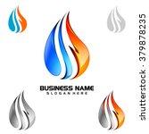 3d water drop vector logo design | Shutterstock .eps vector #379878235
