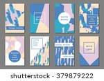 pastel set of printable... | Shutterstock .eps vector #379879222
