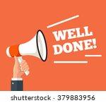 loudspeaker well done. vector...   Shutterstock .eps vector #379883956