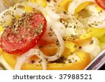 baked feta with peppers  onions ...
