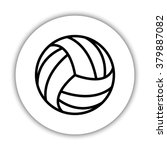 volleyball ball    black vector ... | Shutterstock .eps vector #379887082