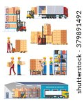 logistics illustrations... | Shutterstock .eps vector #379891492
