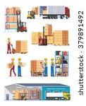 logistics illustrations... | Shutterstock .eps vector #379891492