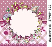 invitation or wedding card with ... | Shutterstock .eps vector #379894522