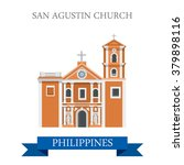 san agustin church in manila... | Shutterstock .eps vector #379898116