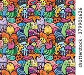 sea animals seamless pattern.... | Shutterstock .eps vector #379901626