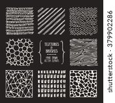 hand drawn textures and brushes.... | Shutterstock .eps vector #379902286