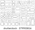 pencil doodles effect. simple... | Shutterstock .eps vector #379903816
