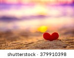 Small photo of Love Heart on the beach
