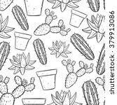 seamless pattern of black and... | Shutterstock .eps vector #379913086