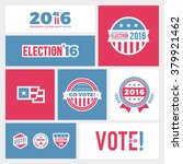 american election badges and... | Shutterstock .eps vector #379921462