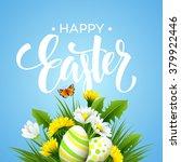 easter greeting. lettering... | Shutterstock .eps vector #379922446