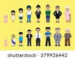 people family growing stages... | Shutterstock .eps vector #379926442