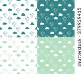 seamless pattern clouds and... | Shutterstock .eps vector #379929415