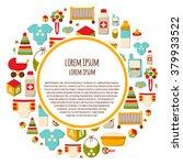 round background with cartoon... | Shutterstock .eps vector #379933522