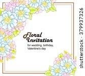 romantic invitation. wedding ... | Shutterstock . vector #379937326
