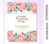 romantic invitation. wedding ... | Shutterstock . vector #379939096