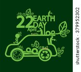 earth day ecologic driving... | Shutterstock .eps vector #379952302