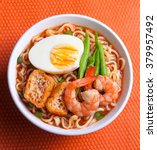 hot and spicy instant noodle... | Shutterstock . vector #379957492