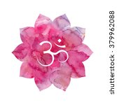 om sign in lotus flower. pink... | Shutterstock .eps vector #379962088