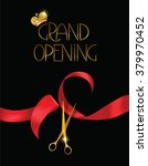 grand opening card with... | Shutterstock .eps vector #379970452