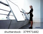 young businesswoman working on... | Shutterstock . vector #379971682