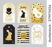 badges wish easter symbols. ... | Shutterstock .eps vector #379974316
