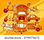 vector design of transportation ... | Shutterstock .eps vector #379975672