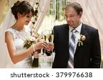 stylish happy newlyweds on the...   Shutterstock . vector #379976638