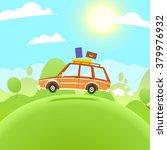 summer travel illustration.... | Shutterstock .eps vector #379976932