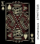 skull playing card | Shutterstock .eps vector #379977235