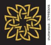 golden glittering logo template ... | Shutterstock .eps vector #379980646