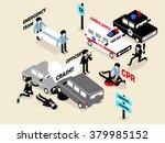 beautiful isometric style... | Shutterstock .eps vector #379985152