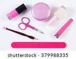 cosmetics and set of manicure... | Shutterstock . vector #379988335