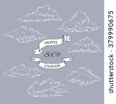 background with clouds... | Shutterstock .eps vector #379990675