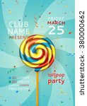 lollipop music party flyer.... | Shutterstock .eps vector #380000662