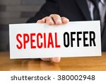 special offer  message on white ... | Shutterstock . vector #380002948