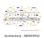 subway  underground railway ... | Shutterstock .eps vector #380003932