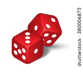 vector red dices isolated on... | Shutterstock .eps vector #380006875