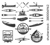sea kayak adventures emblems... | Shutterstock .eps vector #380006962