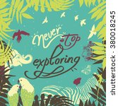 "vector poster ""never stop... | Shutterstock .eps vector #380018245"