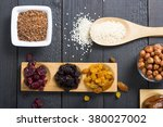 sun dried super foods  nuts and ... | Shutterstock . vector #380027002
